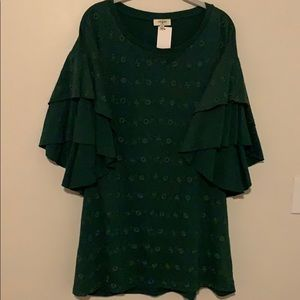 Tunic with butterfly sleeves